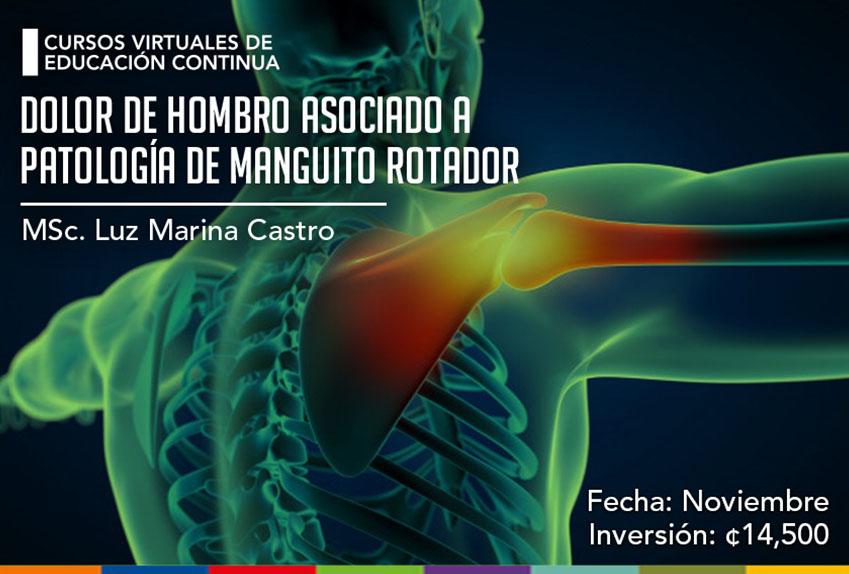 Dolor de hombro asociado a patología de manguito rotador..